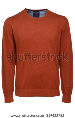 brown sweater - stock photo
