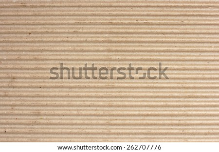 brown texture of cardboard, striped  - stock photo