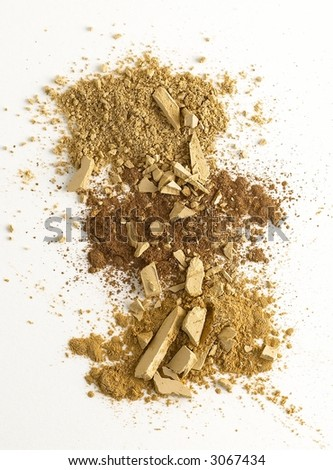 Brown tones of foundation