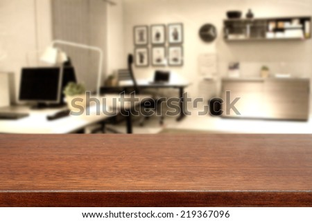 brown top and office  - stock photo