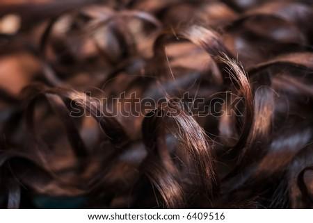brown tresses - stock photo