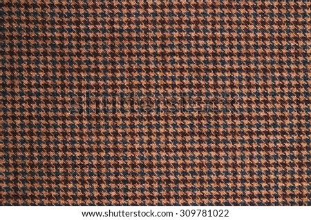 Brown tweed textile pattern. Textures and backgrounds - stock photo