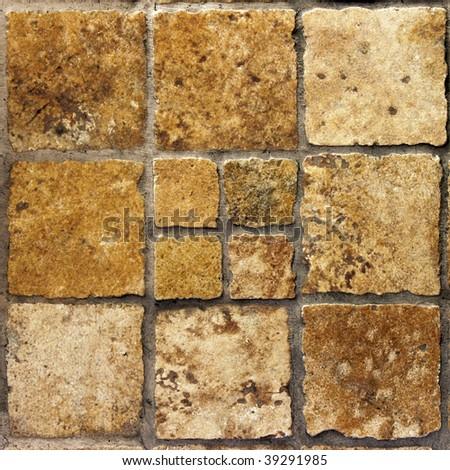 Brown vintage ceramic tiles - stock photo