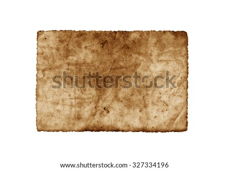 Brown vintage paper isolated. Old photo paper texture. Vintage paper - stock photo