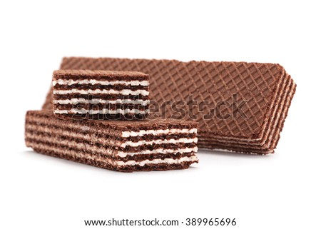 Brown wafers stick isolated on white background