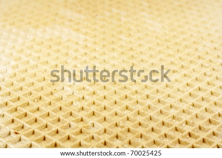 Brown waffle texture background. Sweet food. - stock photo