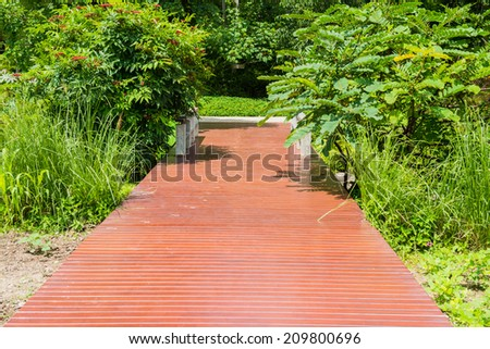 Brown walk way in public park, Thailand