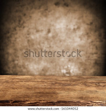 brown wall and brown desk  - stock photo