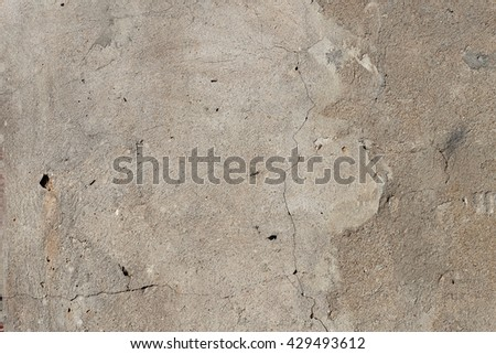 Brown wall background with different type texture of plaster