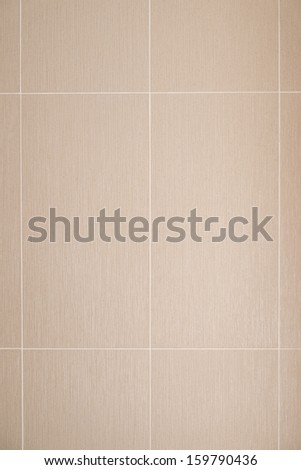 Brown wall tile texture background. Bathroom or kitchen wall - stock photo