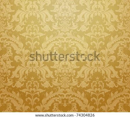 Brown wallpaper pattern, bitmap copy - stock photo