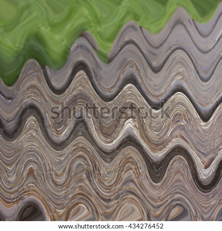 brown waves abstract - stock photo