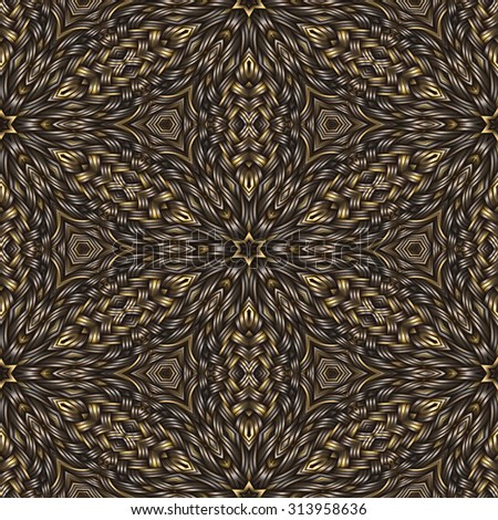 brown weaving wood  texture  ornament pattern - stock photo