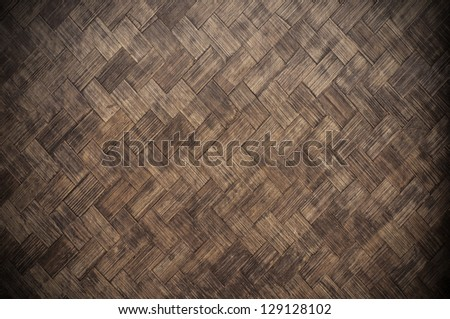 Brown wicker texture used as a background - stock photo