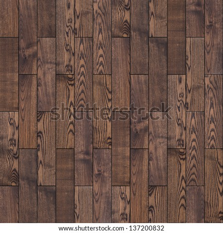Brown Wood Parquet Floor. Highly Detailed Seamless Tileable Texture. - stock photo