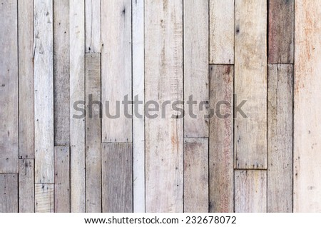 Brown wood plank wall texture background. - stock photo