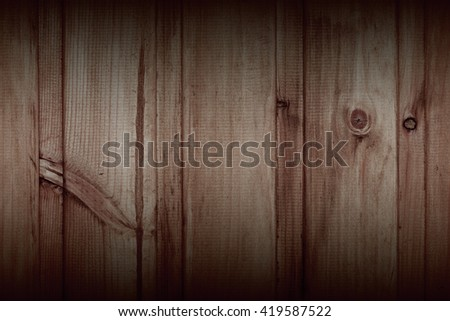 Brown wood texture. Abstract background. Vintage and Grunge style.