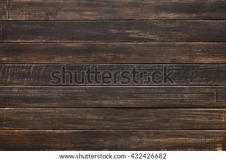 Brown wood texture and background. Brown painted wood texture background. Rustic, old wooden background. Aged wood planks texture pattern. Wooden surface. Horizontal timber planks - stock photo
