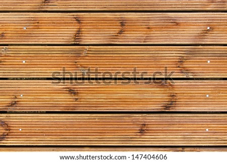 brown wooden plank terrace decking - stock photo