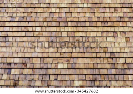 brown wooden roof pattern for background - stock photo