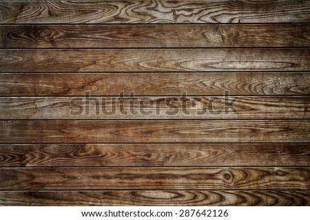 Brown wooden wall textured background - stock photo