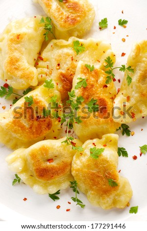 Browned dumplings