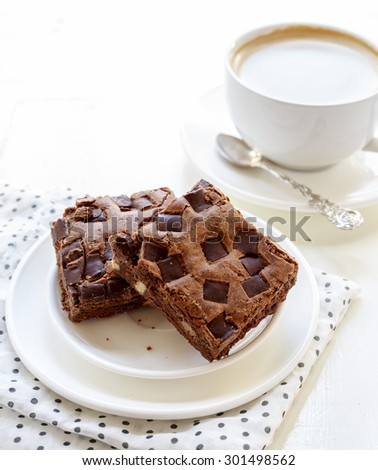 Brownies and a Cup of Coffee