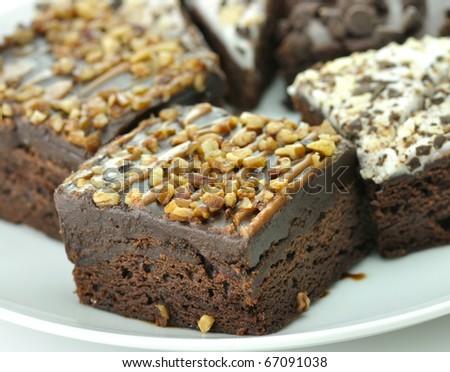 brownies close up - stock photo