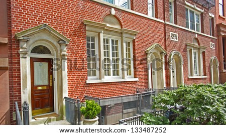 Brownstone Brooklyn Series/Brooklyn Heights, King's County's oldest, most historic & affluent neighborhood. - stock photo