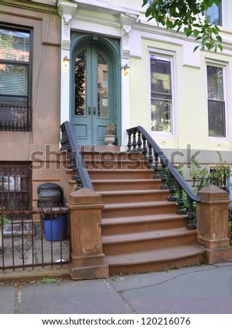 Brownstone Home in Brooklyn New York - stock photo