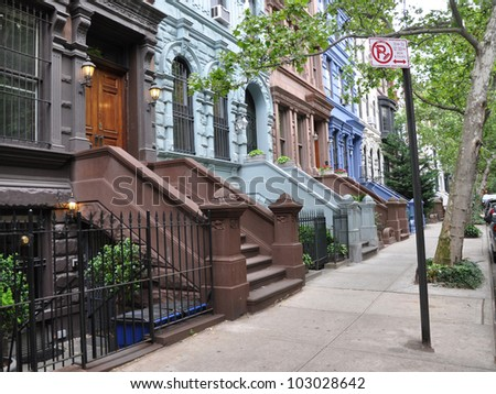 Brownstone stock photos royalty free images vectors for Manhattan house for sale