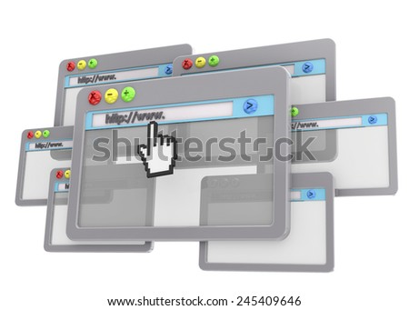 Browser Concept on white background - stock photo