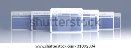 Browser Windows - stock photo