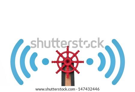 browsing wi-fi, concept - stock photo