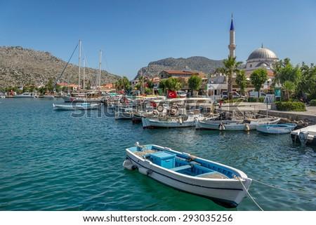 Brozburun on the South west peninsula of Turkey - stock photo
