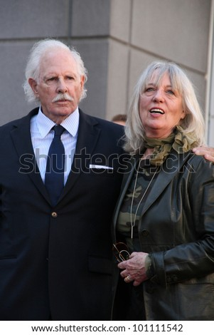 Bruce Dern and wife at Bruce Dern, Laura Dern and Diane Ladd Honored with Stars on the Hollywood Walk of Fame, Hollywood, CA. 11-01-10