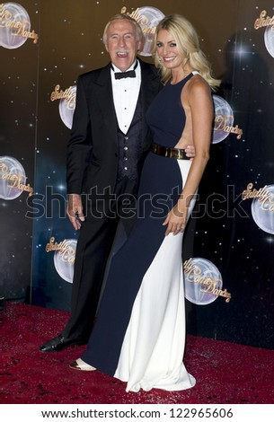 Bruce Forsyth and Tess Daly arriving for the Strictly Come Dancing 2012 Launch, Television Centre, London. 11/09/2012 Picture by: Simon Burchell - stock photo