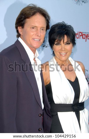 Bruce Jenner and Kris Jenner  at the Aces and Angels Celebrity Poker Party. Playboy Mansion, Beverly Hills, CA 07-11-09 - stock photo