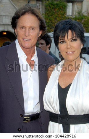 Bruce Jenner and Kris Jenner at the Aces and Angels Celebrity Poker Party. Playboy Mansion, Beverly Hills, CA 07-11-09