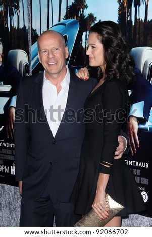 "Bruce Willis and Emma Heming at HBO's ""His Way"" Los Angeles Premiere, Paramount Studios,  Hollywood, CA 03-22-11"