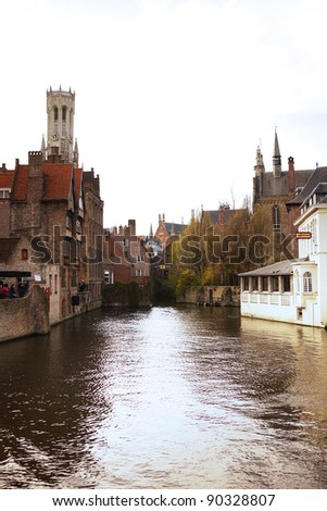 Bruges canal - stock photo