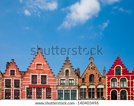 Bruges houses  - stock photo