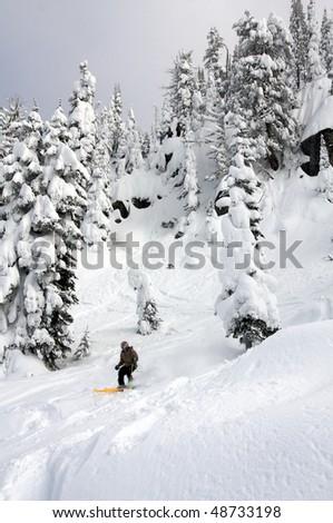 Brundage Mountain Ski Resort, McCall, Idaho - stock photo