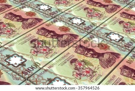 Brunei dollar bills stacks background. Computer generated 3D photo rendering. - stock photo