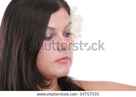 Brunette - stock photo