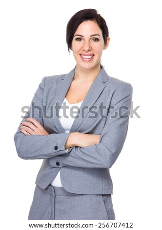 Brunette Businesswoman - stock photo