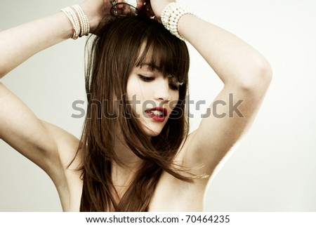 brunette girl glamour portrait