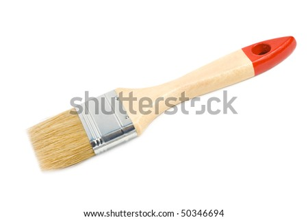 Brush.  Isolated on white background.