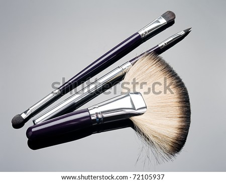 Brush make up - stock photo