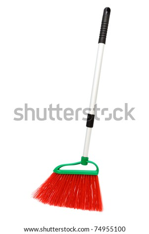 Brush the floor on a white background